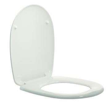WC Deckel Weiß mit Edelstahlscharnieren